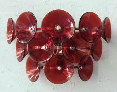 Set of Five Vintage Italian Sconces Murano Glass Designed by Visoti - 2091253