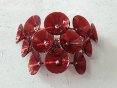 Set of Five Vintage Italian Sconces Murano Glass Designed by Visoti - 2091255