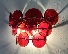 Set of Five Vintage Italian Sconces Murano Glass Designed by Visoti - 2091256