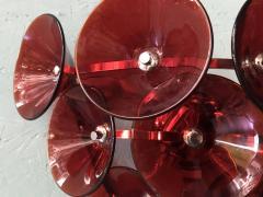 Set of Five Vintage Italian Sconces Murano Glass Designed by Visoti - 2091259