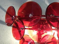 Set of Five Vintage Italian Sconces Murano Glass Designed by Visoti - 2091260