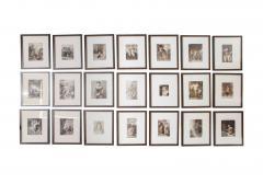 Set of Forty Framed German Art Plate Engravings - 389234