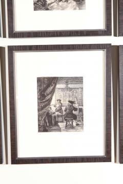 Set of Forty Framed German Art Plate Engravings - 389235