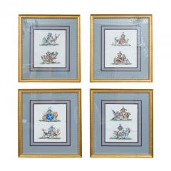 Set of Four Armorial Engravings by Charles Catton - 1199867