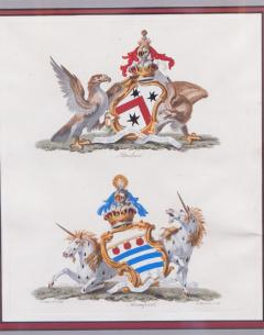 Set of Four Armorial Engravings by Charles Catton - 1199869