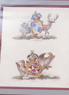 Set of Four Armorial Engravings by Charles Catton - 1199870