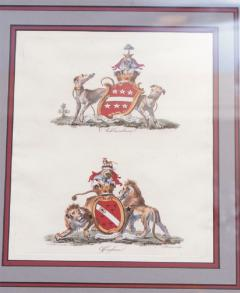 Set of Four Armorial Engravings by Charles Catton - 1199871