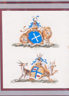 Set of Four Armorial Engravings by Charles Catton - 1199872