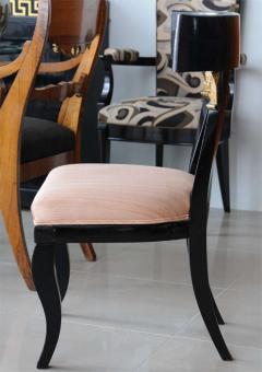 Set of Four Baltic Neoclassic Ebonized and Penwork Klismos Chairs - 391149