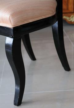 Set of Four Baltic Neoclassic Ebonized and Penwork Klismos Chairs - 391163