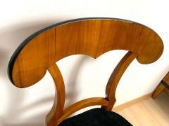 Set of Four Biedermeier Shovel Chairs Cherry Veneer South Germany circa 1820 - 1808516