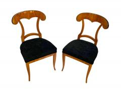 Set of Four Biedermeier Shovel Chairs Cherry Veneer South Germany circa 1820 - 1808521
