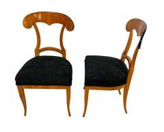 Set of Four Biedermeier Shovel Chairs Cherry Veneer South Germany circa 1820 - 1808522