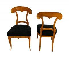 Set of Four Biedermeier Shovel Chairs Cherry Veneer South Germany circa 1820 - 1808523