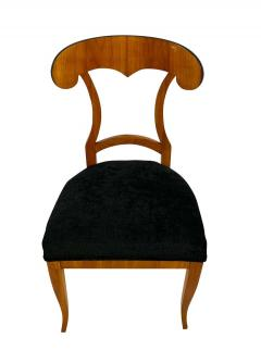 Set of Four Biedermeier Shovel Chairs Cherry Veneer South Germany circa 1820 - 1808524