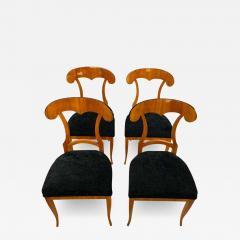 Set of Four Biedermeier Shovel Chairs Cherry Veneer South Germany circa 1820 - 1818714