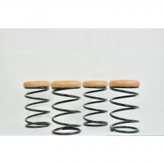 Set of Four Coil Spring Bar Stools - 1732566