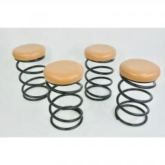 Set of Four Coil Spring Bar Stools - 1732571