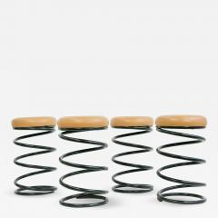 Set of Four Coil Spring Bar Stools - 1733039