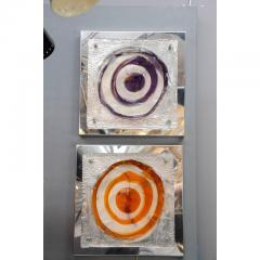 Set of Four Colorful Square Wall Sconces - 736078