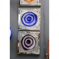 Set of Four Colorful Square Wall Sconces - 736081