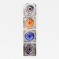 Set of Four Colorful Square Wall Sconces - 736311