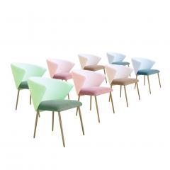 Set of Four Contemporary Modern Cotton Velvet Italian Chairs - 1594747