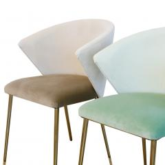 Set of Four Contemporary Modern Cotton Velvet Italian Chairs - 1594749