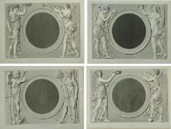 Set of Four Early 19th century Prints of the Louvre by Baltard - 924929