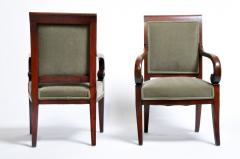 Set of Four Empire Period Armchairs - 666508