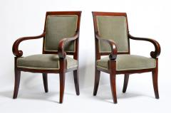 Set of Four Empire Period Armchairs - 666509