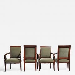 Set of Four Empire Period Armchairs - 667917