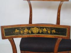 Set of Four English Regency Fruitwood Side Chairs Chinoiserie Decorated - 2006871