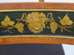 Set of Four English Regency Fruitwood Side Chairs Chinoiserie Decorated - 2006872