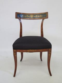 Set of Four English Regency Fruitwood Side Chairs Chinoiserie Decorated - 2006873