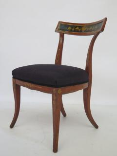 Set of Four English Regency Fruitwood Side Chairs Chinoiserie Decorated - 2006876