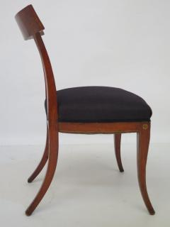 Set of Four English Regency Fruitwood Side Chairs Chinoiserie Decorated - 2006878