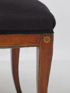 Set of Four English Regency Fruitwood Side Chairs Chinoiserie Decorated - 2006880