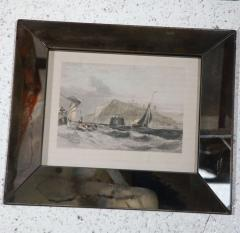 Set of Four Hand Colored Engravings in Antique Mirror Frames - 252929