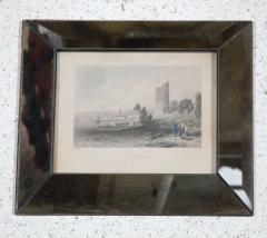 Set of Four Hand Colored Engravings in Antique Mirror Frames - 252930