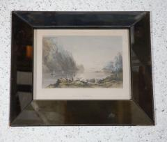 Set of Four Hand Colored Engravings in Antique Mirror Frames - 252932