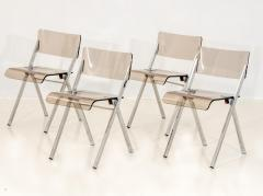 Set of Four Lucite Folding Chairs - 1696466