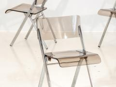 Set of Four Lucite Folding Chairs - 1696470