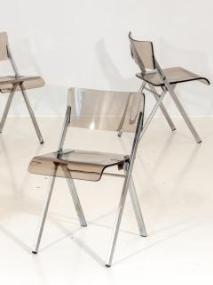 Set of Four Lucite Folding Chairs - 1696471