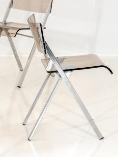 Set of Four Lucite Folding Chairs - 1696472
