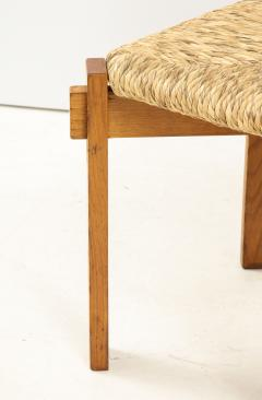 Set of Four Modernist Italian Oak and Straw Chairs - 1812315