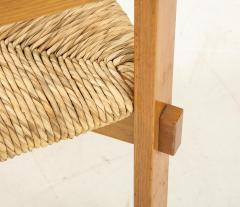 Set of Four Modernist Italian Oak and Straw Chairs - 1812320