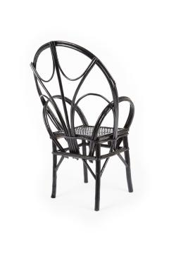 Set of Four Moroccan Wicker Chairs - 1137480