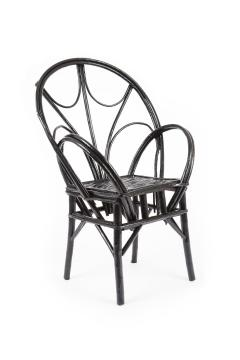 Set of Four Moroccan Wicker Chairs - 1137481