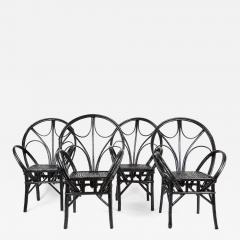 Set of Four Moroccan Wicker Chairs - 1137899